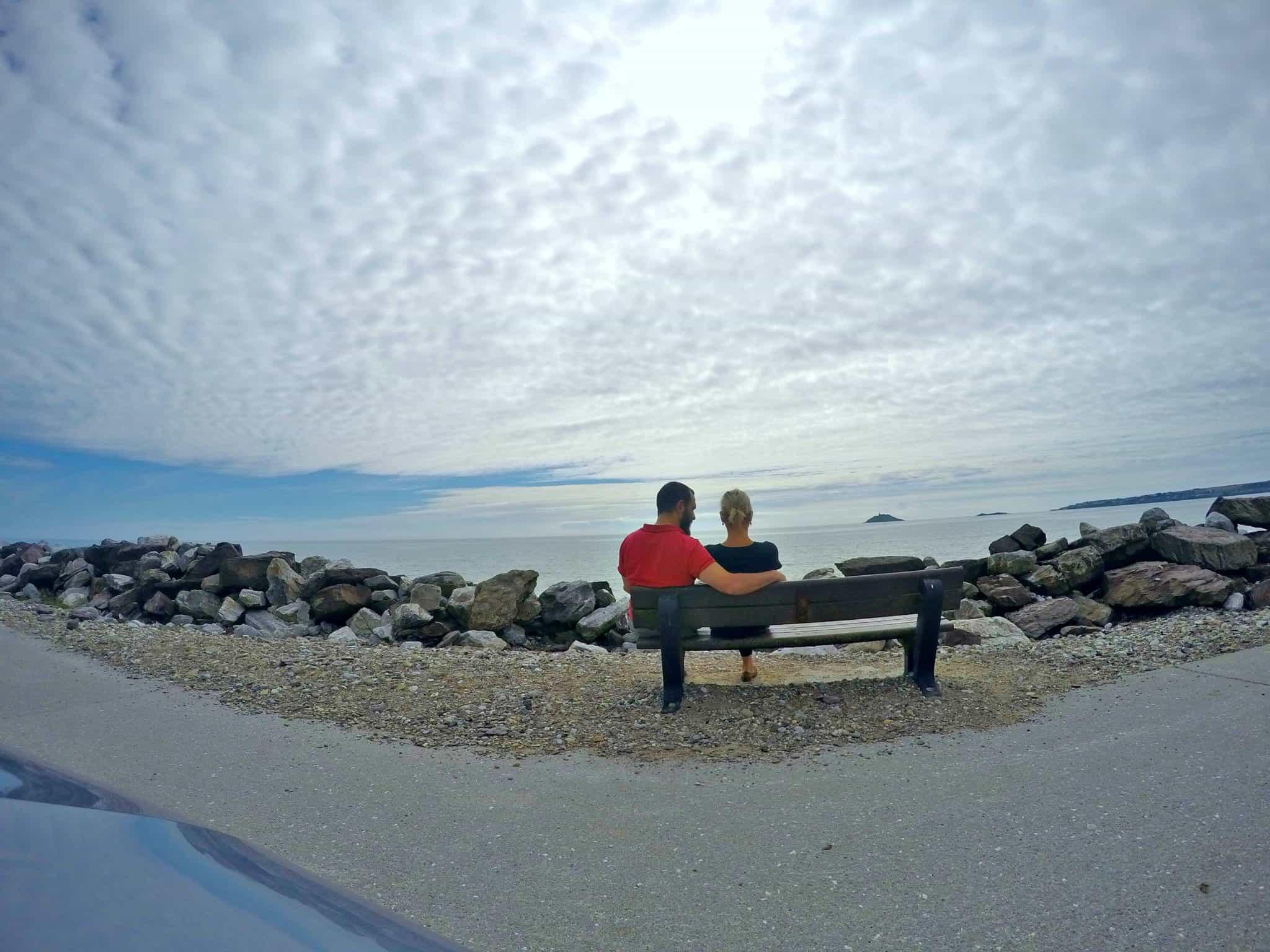 Random Roadside stop next to the sea