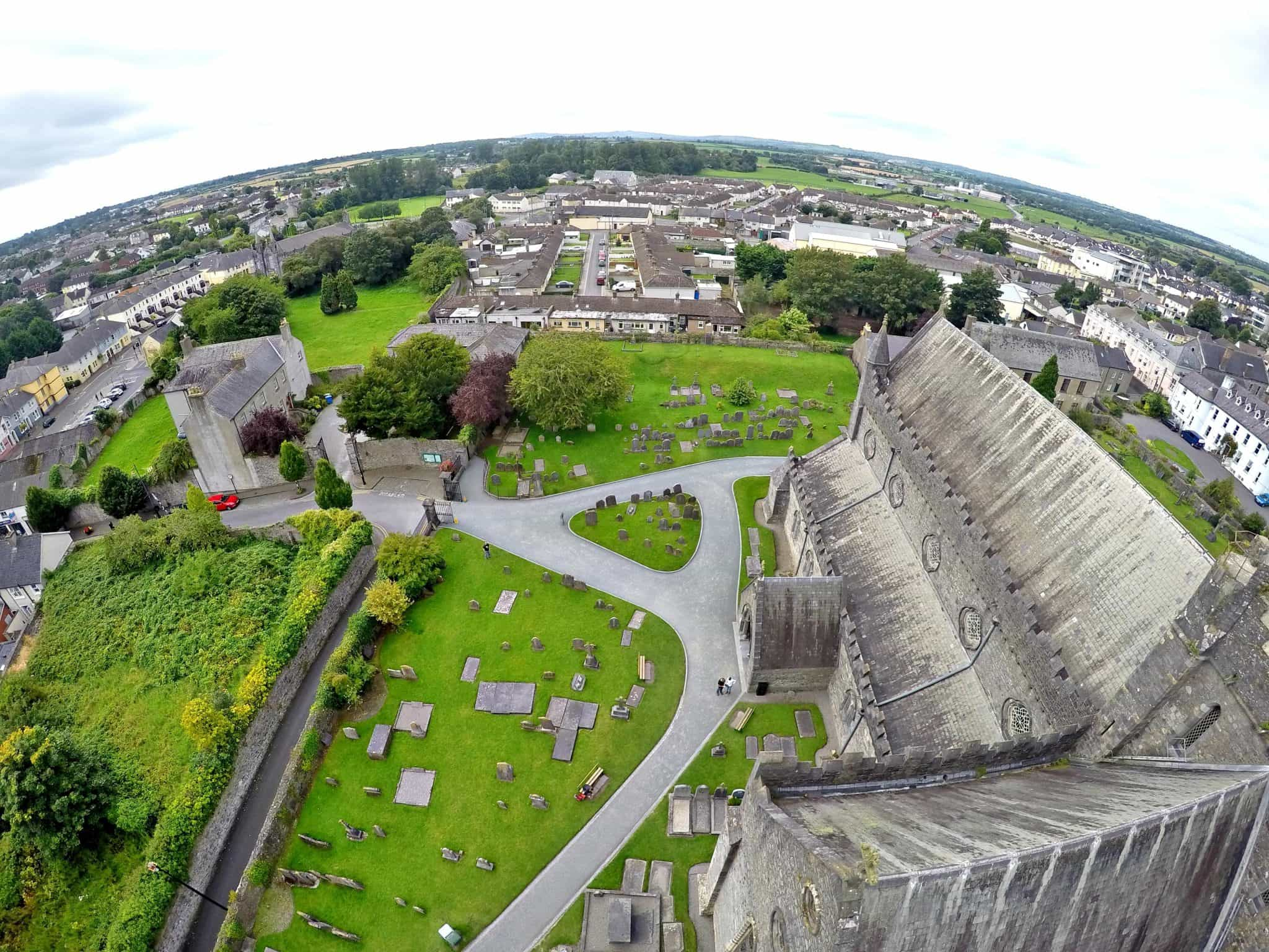 Views from the top of St Canice's Cathedral in Kilkenny
